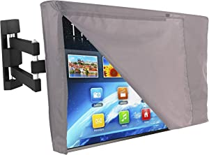 Lish Outdoor TV Cover with Front Flap Weatherproof Material (46
