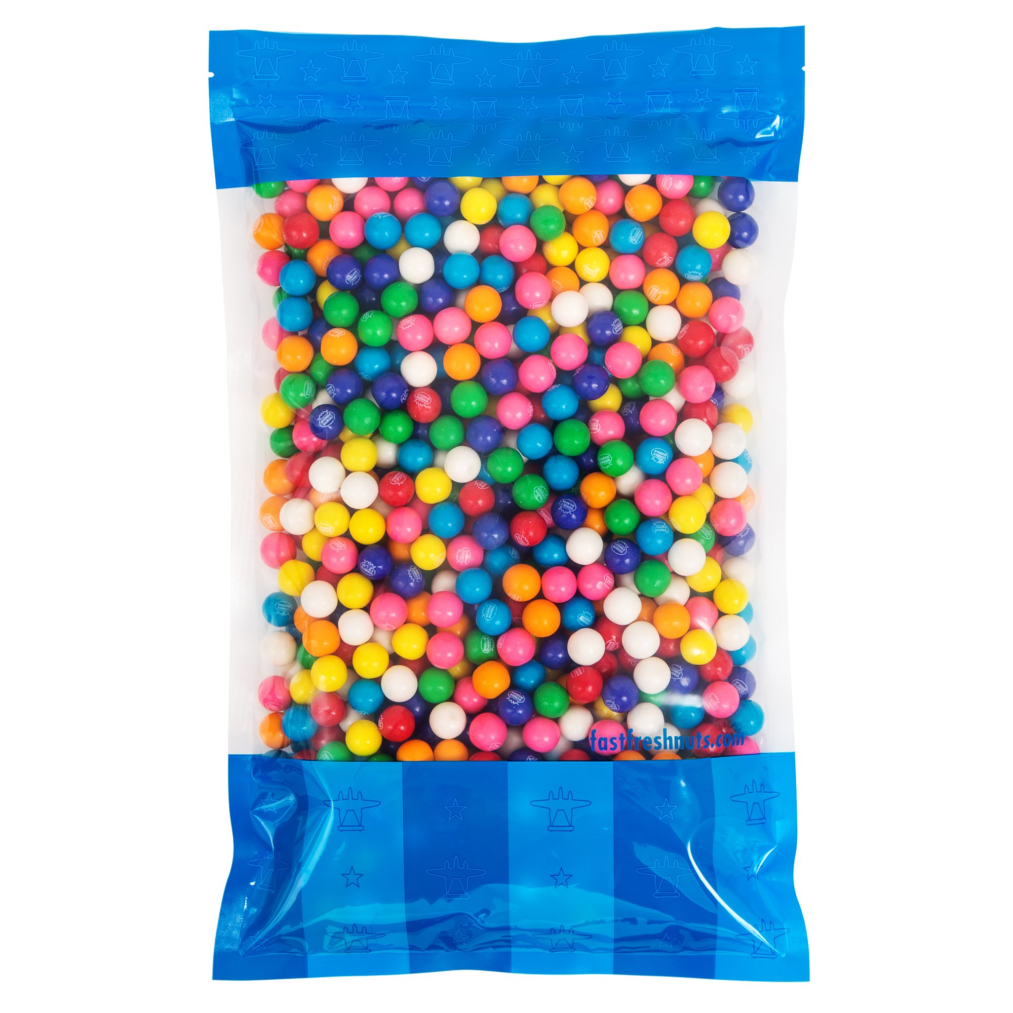 Bulk Mini Dubble Bubble Gumballs - 5 lbs in a Resealable Bomber Bag - Great for Vending Machine Refills - Wholesale - Parties by Fast Fresh Nuts