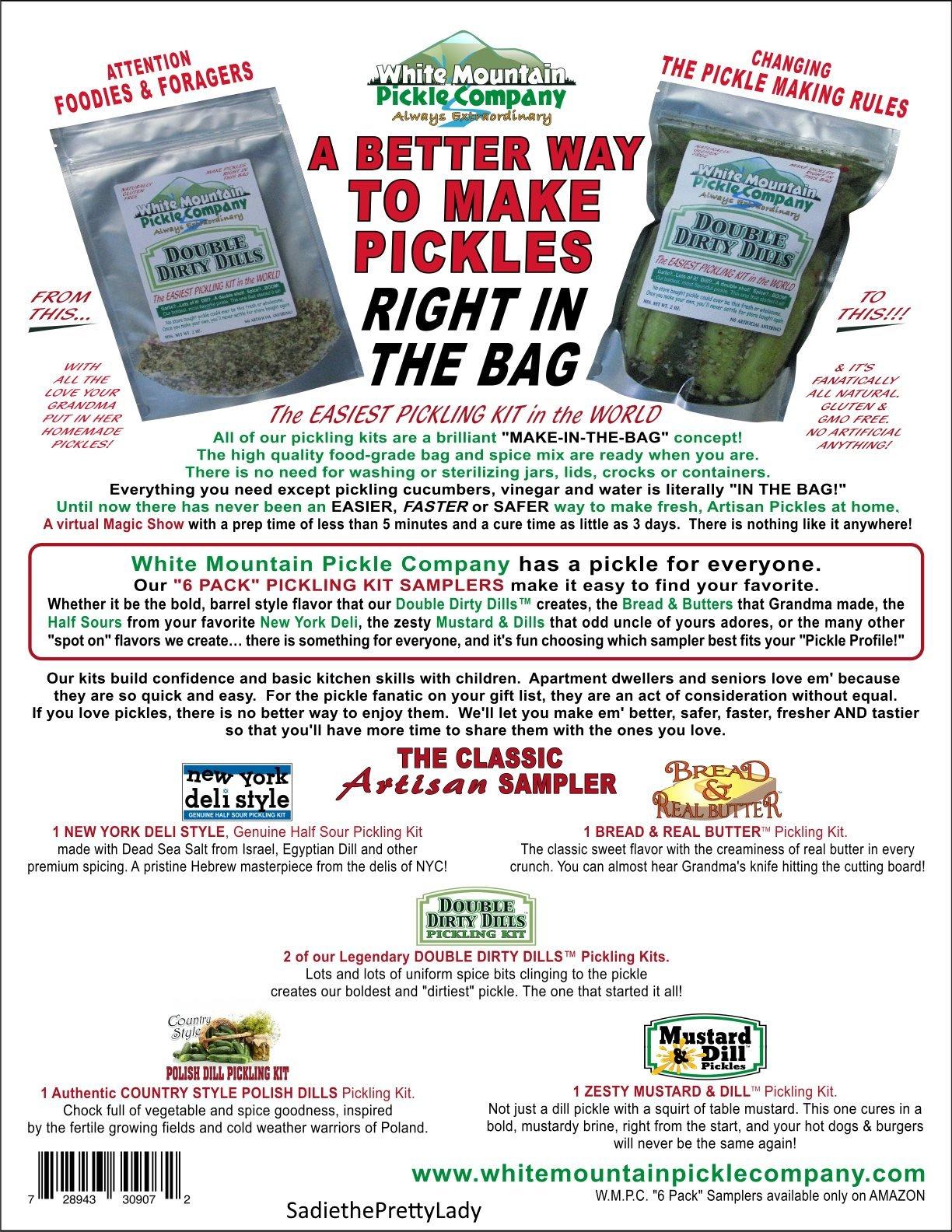 White Mountain Pickle Company The Classic Artisan Sampler Pickling Kit - 6 Pack