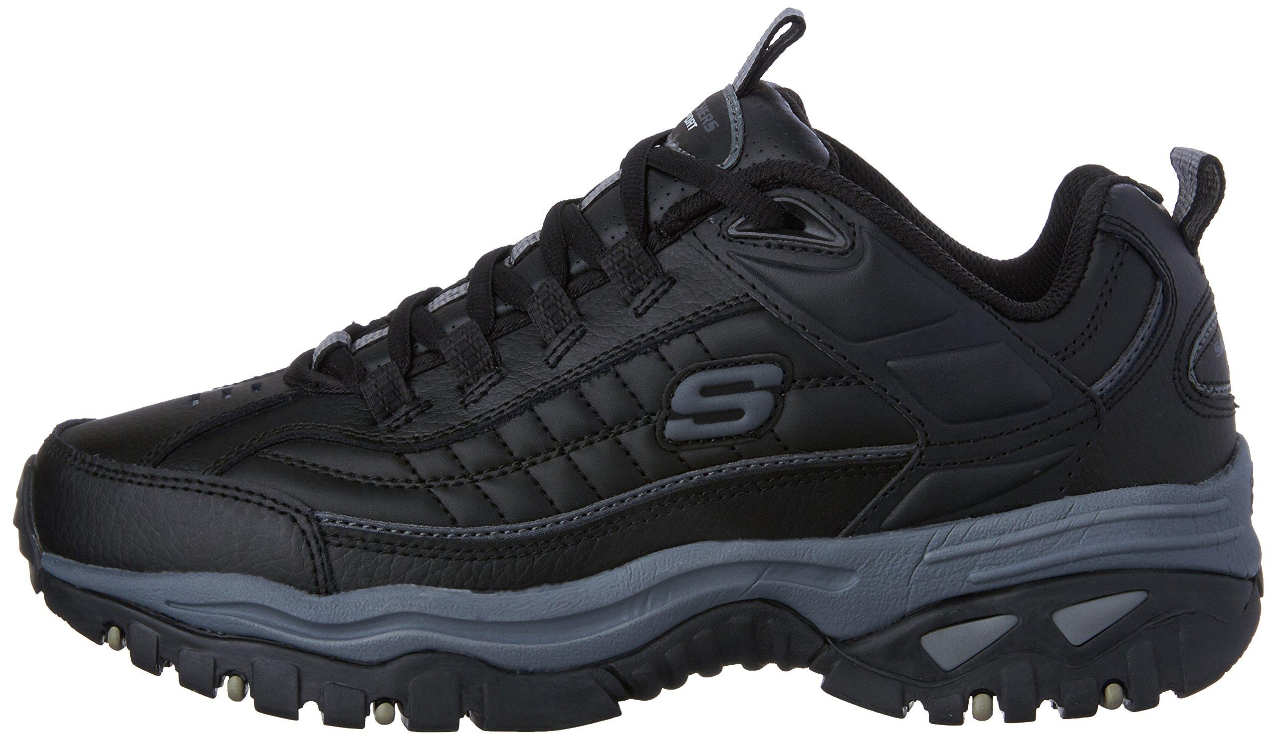 Skechers Men's Energy Afterburn Lace-Up Sneaker,Black/Gray,14 M US by Skechers (Image #5)