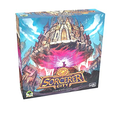 Sorcerer City Board Game | Tile Laying and Deck Building Strategy Game of Wizard Architects, for Teens and Adults, 1-6 Players: Toys & Games