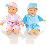 Molly Dolly Twin Dolls - 30cm Soft Bodied Girl & Boy Set - Suitable From 1 Year +