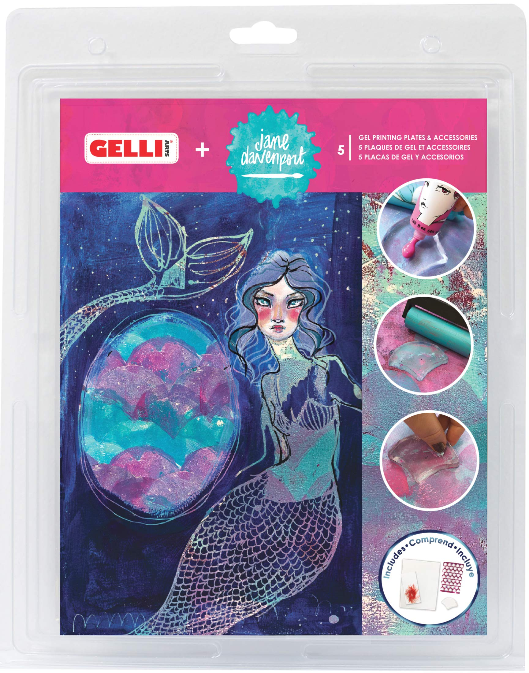 Gelli Arts¨ + Jane Davenport¨ Seashell Printing Set by Gelli Arts