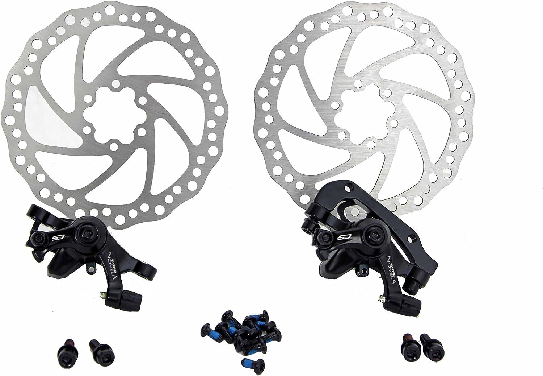 2x Mechanical Bicycle Cycling MTB Bike Disc Brake Front Rear Caliper 160mm Rotor