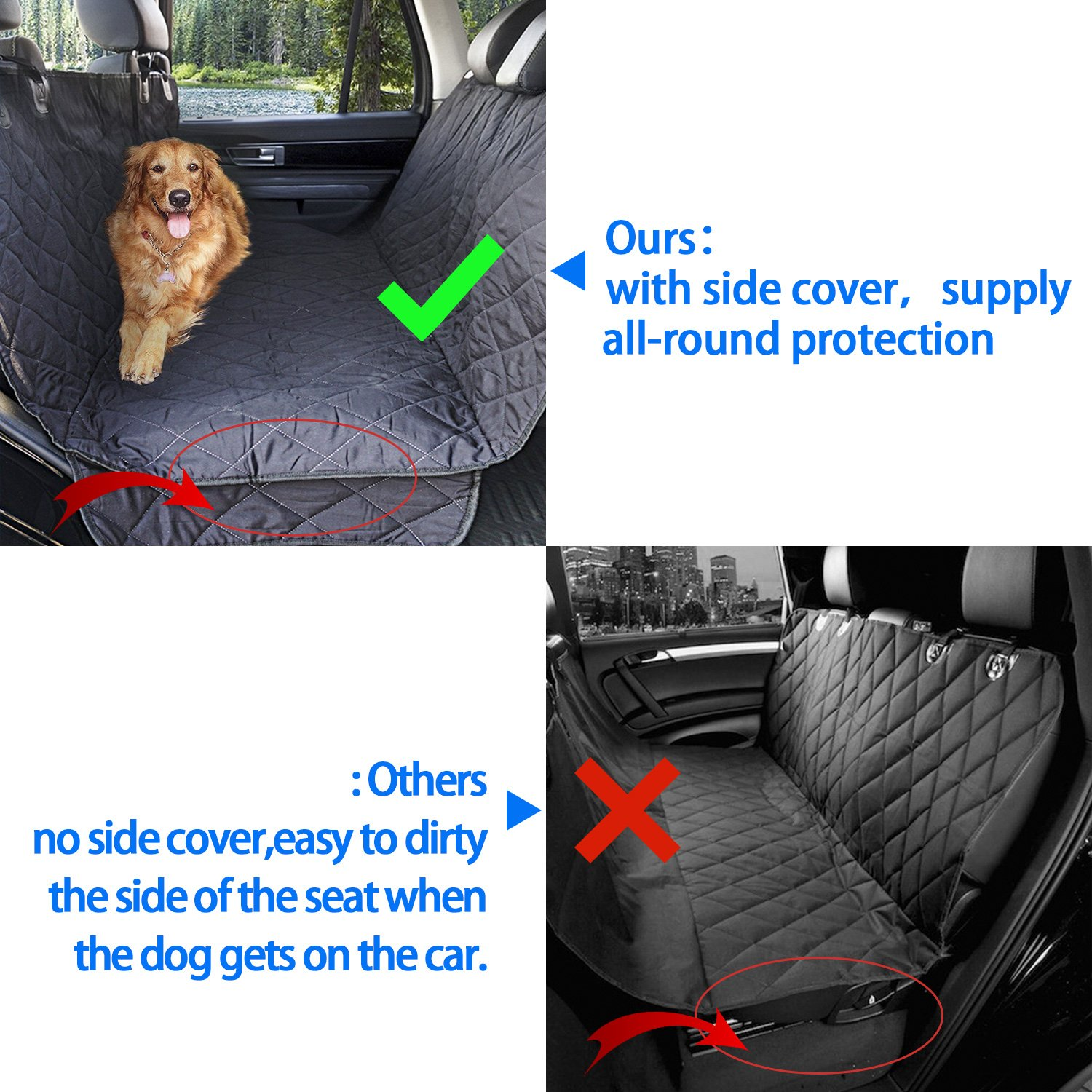 PETNINJA Luxury Waterproof Pet Seat Cover For Cars Durable Dog Car Trucks And SUVs Machine Washable Amazoncouk Supplies