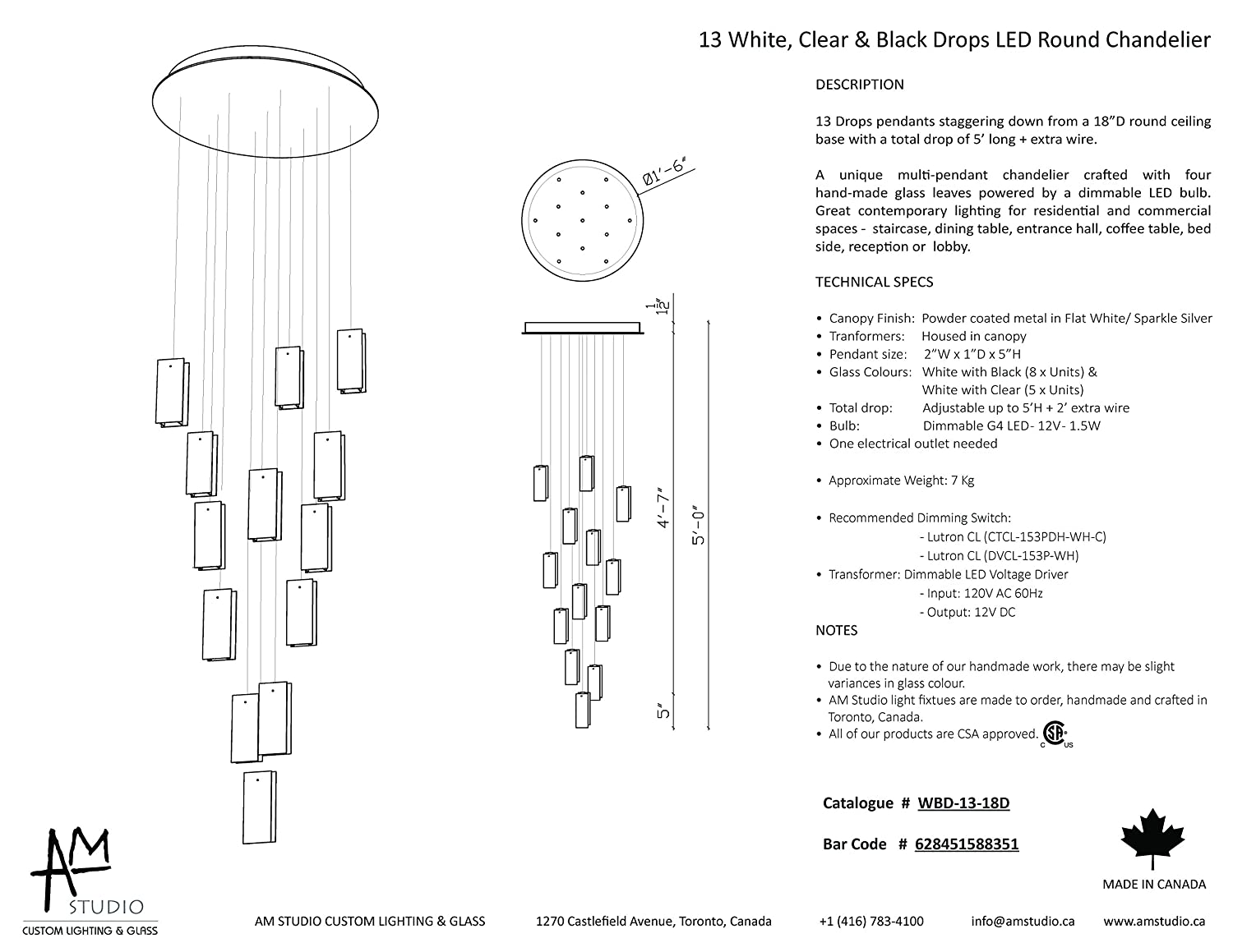 Led Chandelier Wiring Diagram Diagrams Rewiring A 13 White Clear Black Drops Round Amazon Com Light
