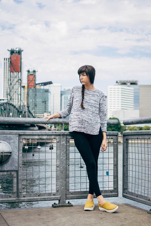 Tsubo Womens Arata Slip On Wedge Flat Platform Black Shoes B075VHFN11 8 B(M) US|Chamois