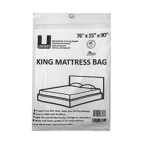 Uboxes Moving Suministros Bolsa de tamaño King Funda de colchón/76 x 15 x 90