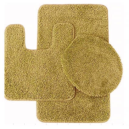 Gold Bathroom Rug Sets. Sweet Home Collection 3 Piece Shag Bathroom Rug Set Gold Bath Mat Contour Seat