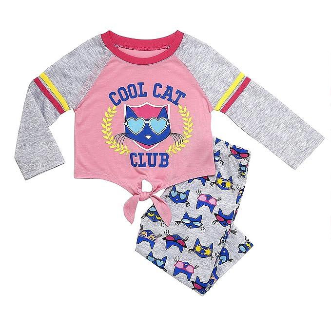 Amazon.com: Pete El Gato Niña 2 Piezas Conjunto de pijama ...