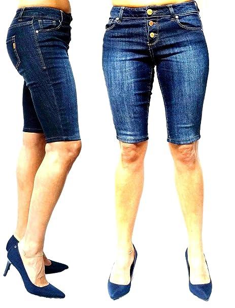 11afb53f66 Mudd   1822 Denim Juniors Women s Blue Denim Jeans Skinny Ripped Distressed  Bermuda Shorts (24