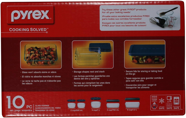 Amazon Pyrex Simply Store 10 Piece Glass Food Storage Set With
