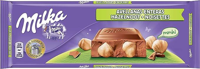 Milka tableta de chocolate leche con frutos secos enteros(e300g): Amazon.es: Alimentación y bebidas