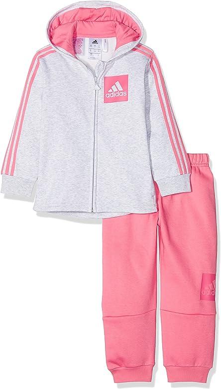 adidas I E 3S Fzhd FL Chándal, Unisex bebé, (brgrcl/rostiz/rosrea ...
