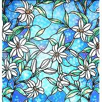 Arthome película Decorativa para Ventanas Color película de privacidad para Ventana Blackout vinil para Vidrio Chapel…