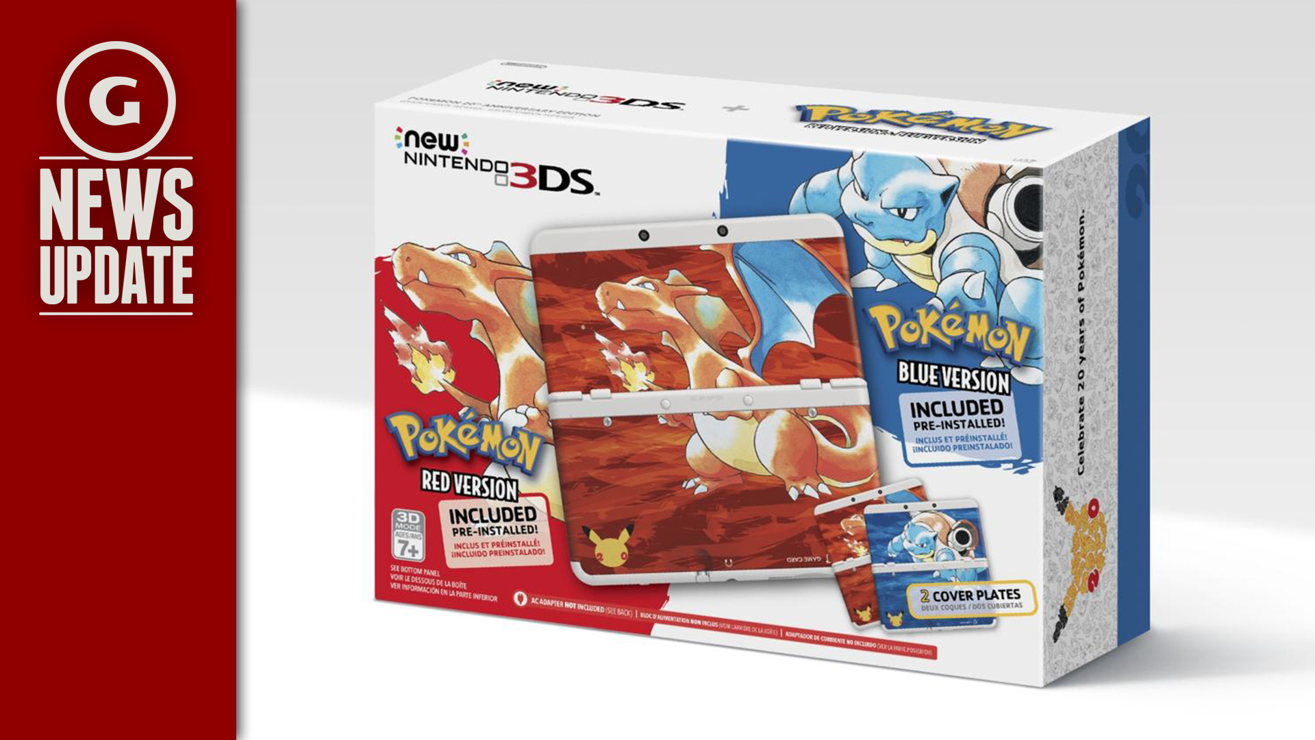 GS News Update: Pokemon 20th Anniversary 3DS Bundles Coming Soon