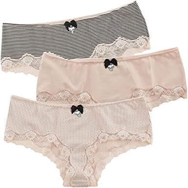 Pussy Deluxe Hipster Panties 3 Pack Mujer Set de Braguitas Rosa ...