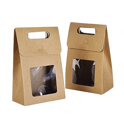 Syndecho Bolsas de papel kraft, 24 unidades Bolsas de pie Cajas para caramelos, alimentos