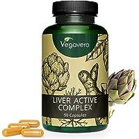 Integratore FEGATO Vegavero® | con Carciofo, Cicoria, Tarassaco, Colina e Curcumina | 90 capsule | Vegan