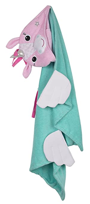 ZOOCCHINI Hooded Towel, 50 inches x 22 inches, 100% Cotton Plush Terry,