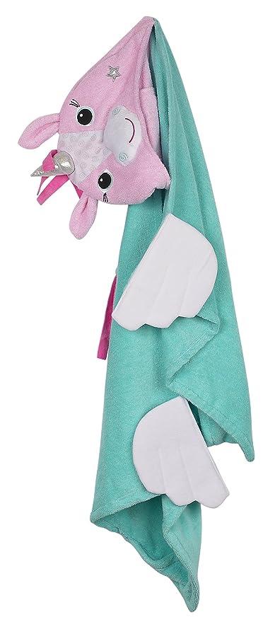 Zoocchini – Toalla con capucha 100% algodón toalla con capucha, Allie el unicornio