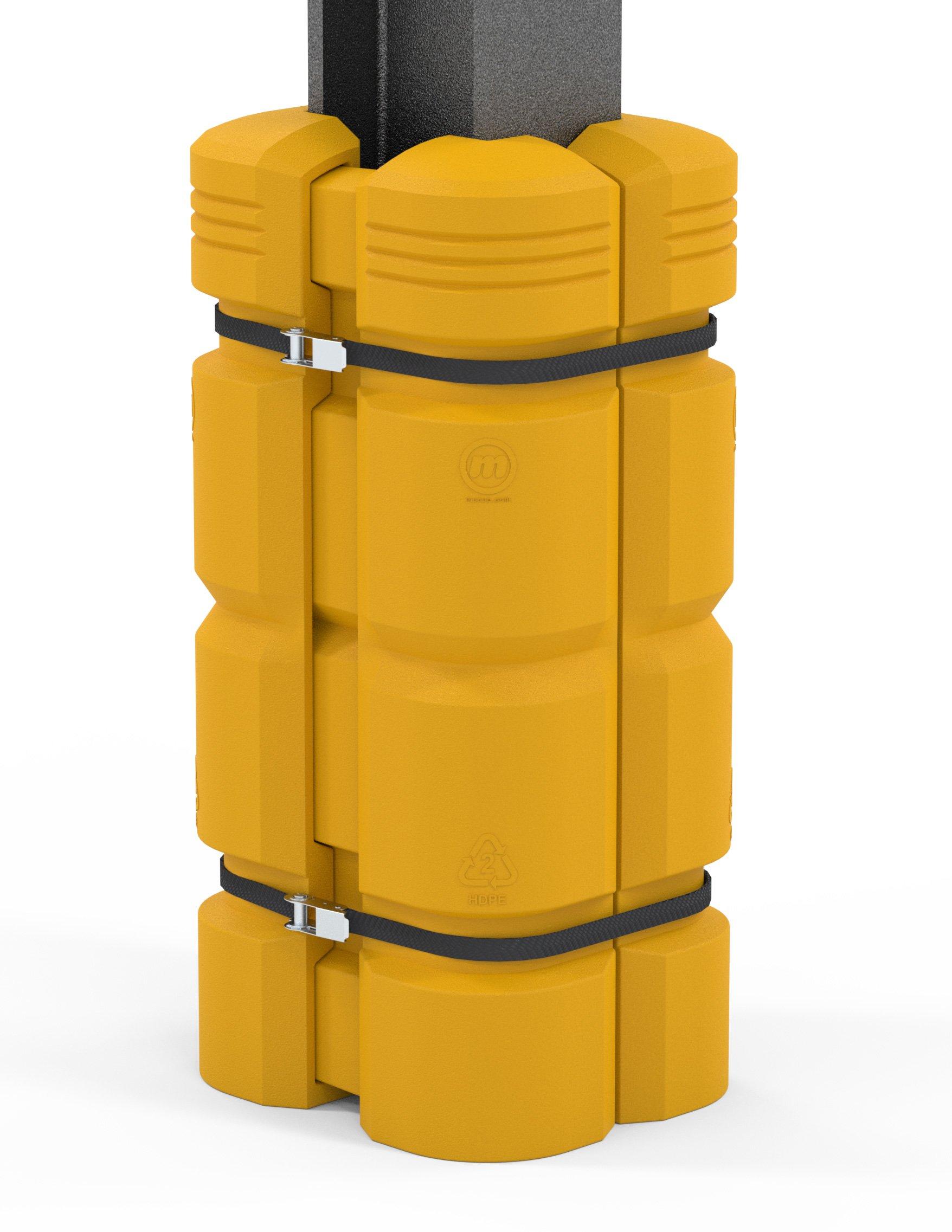 McCue Column Guard, Adjustable 8''-12'', Yellow