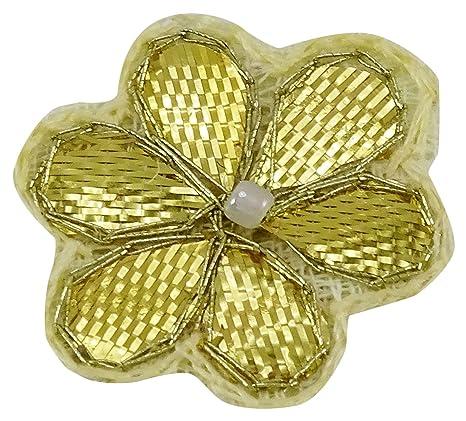 1 Docena De Apliques De Color Beige Bordados De Forma Floral Arte Decorativo Coser Parches