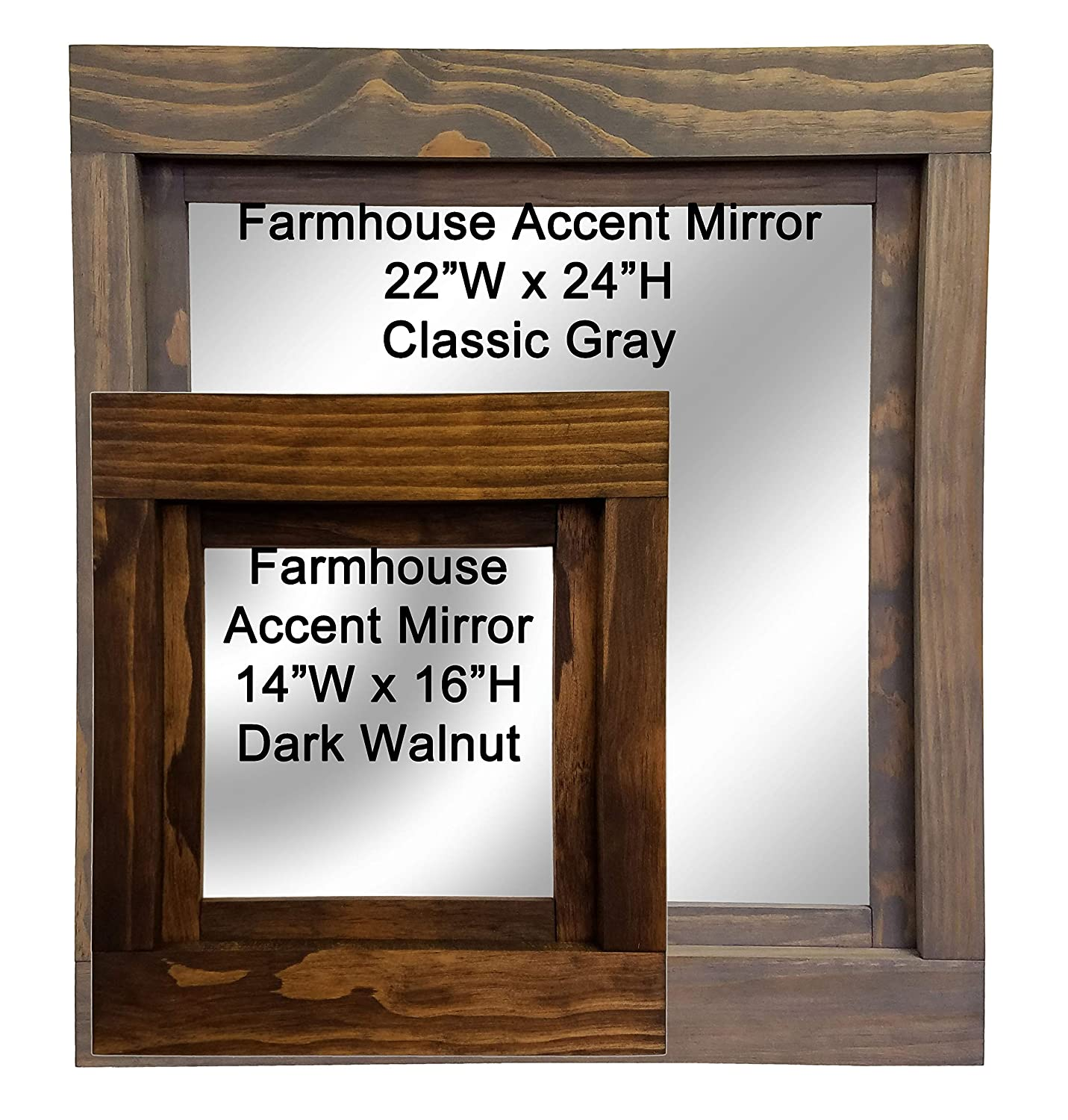 cfd11d4dc0ba Farmhouse Framed Accent Mirror Available in 2 Sizes and 20 Colors - Accent  Wall Mirror – Rustic Style Home Decor – Shabby Chic Decor – Wall Decor –  Room ...