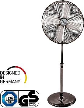 SUNTEC CoolBreeze 4000 50W Cromo, Metálico - Ventilador (Cromo, Metálico, 50 W, 220-240 V, 50 Hz, 445 mm, 400 mm, 1200 mm): Amazon.es: Hogar