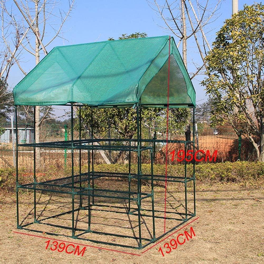 Gzhenh Invernadero Invernadero Plastico 2 Capa Principiante De Jardin Kit Completo Semillas De Flores Cubierta De Patio Resistente A Los Rayos UV Impermeable Sombreado Lluvia: Amazon.es: Hogar