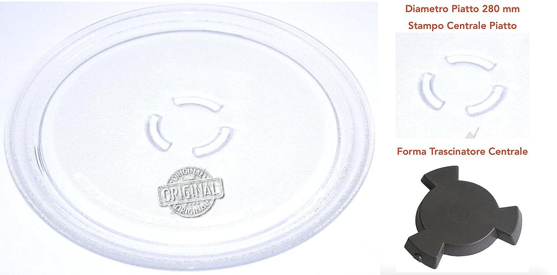 Whirlpool VT265SL - Piatto Rotante in Vetro Originale per Forno a Microonde (Diametro 280mm) Whirlpool*