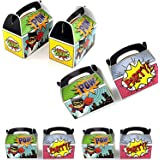Adorox Set Of 24 Superhero Party Goody Treat Boxes Favor Birthday Gifts Goodies