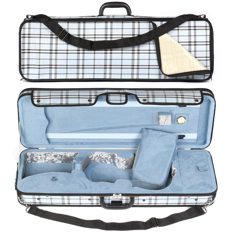 Core 440 Oblong 4/4 Violin Case, Blue Plaid 4334265744