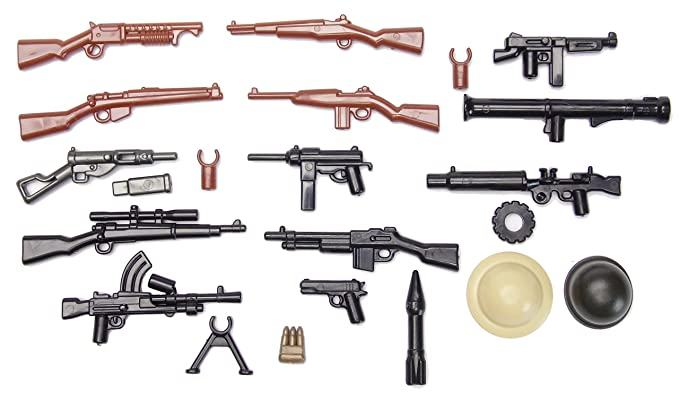 BrickArms Alliiertes Waffenset, WW2 Lot D'Armes Custom armes pour figurines LEGO