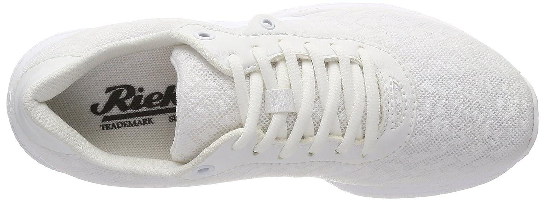 Rieker Damen Damen Rieker N5010 Sneaker, Weiß (Weißs/Weißs/Weißs) 673105