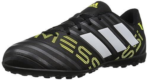 quality design fcacc c2413 adidas Men s Nemeziz Messi 17.4 TF Soccer Shoe Black White Solar Yellow 10 M