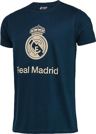 Real Madrid Camiseta de algodón Colección Oficial - Hombre: Amazon.es: Deportes y aire libre