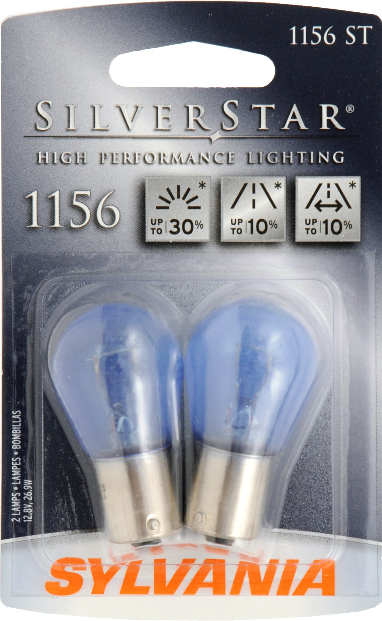Sylvania 1156 ST SilverStar High Performance Halogen Miniature Lamp, (Pack of 2)