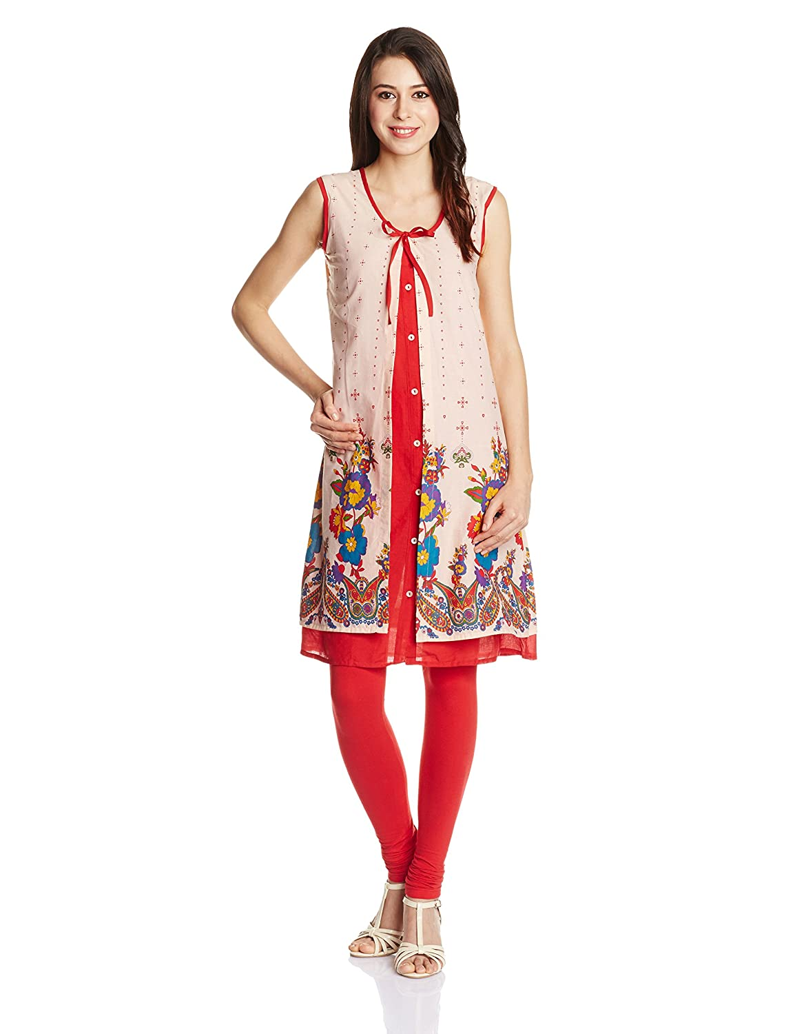 Karigari Women's Cotton Straight Kurta at Amazon India store