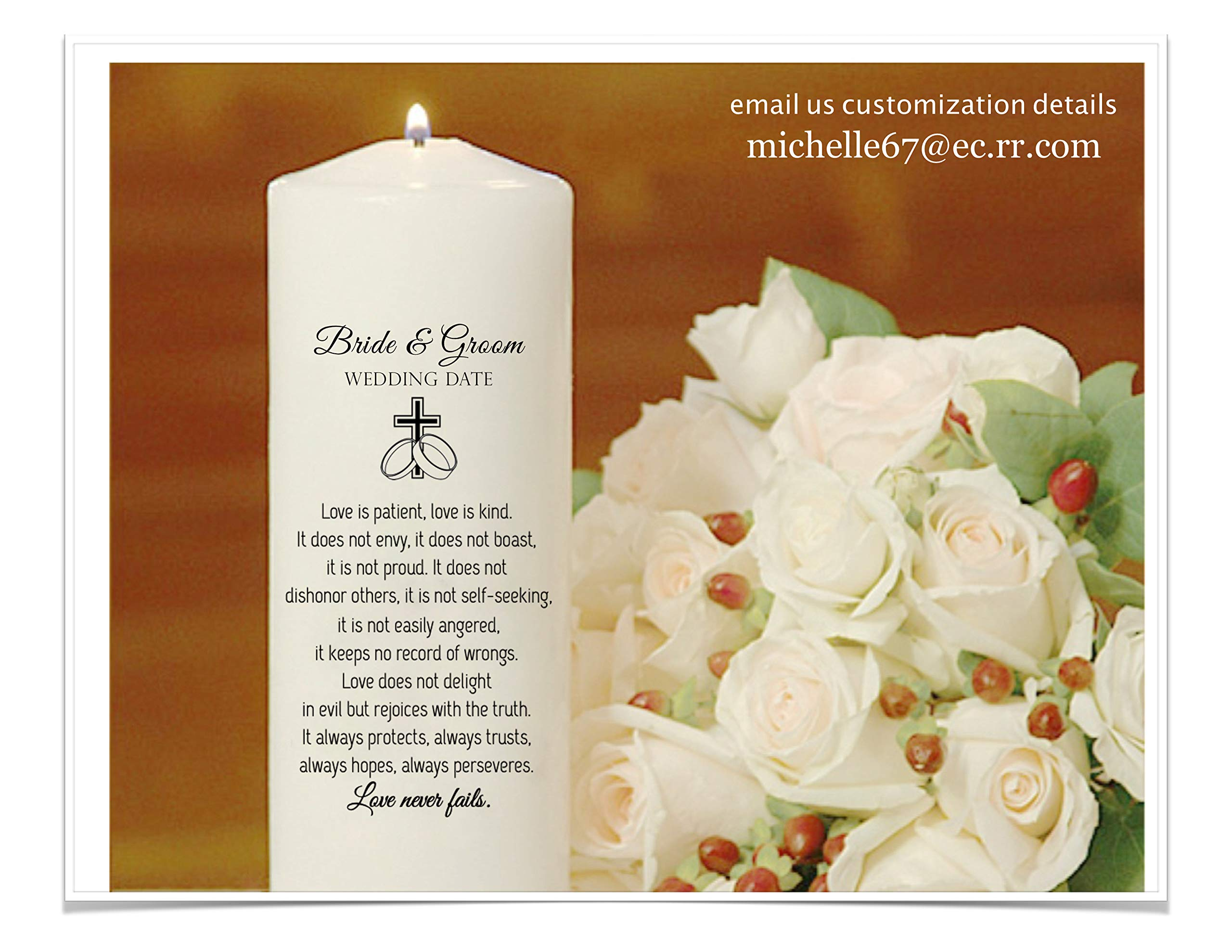 Unity Candles Personalized just for your wedding by Unity Candles