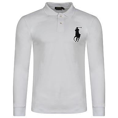 Ralph Lauren .. - Polo - Uni - Col Chemise Classique - Homme - blanc ... b9c901d1c1a