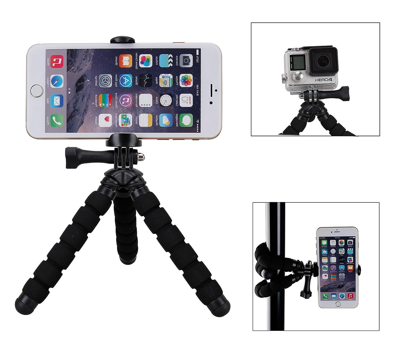 Fotopro RM N Mini trípode flexible con soporte para Smartphone  cámaras