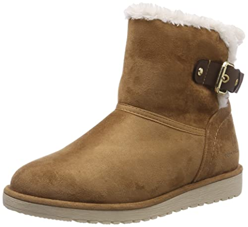 TOM TAILOR 585200230, Botas Plisadas para Mujer: Amazon.es