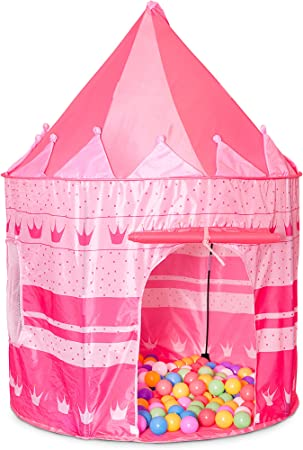 Hillington ® Children's Pop Up Price or Princess Castle Play Tent ???Fun Indoor or Outdoor Kids Den Playhouse for your Little Witch or Wizard ???Blue or