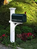 7' Handcrafted White Cedar Outdoor Yard and Patio Mailbox Post