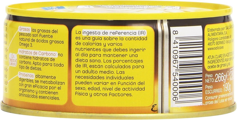 Campos Atún Claro en Aceite de Girasol, Alto Contenido en ...
