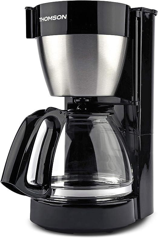 THOMSON THC0912IX - Cafetera de filtro (1,25 L, para 10 a 12 tazas, filtro con filtro permanente, jarra de cristal y sistema antigoteo): Amazon.es: Hogar