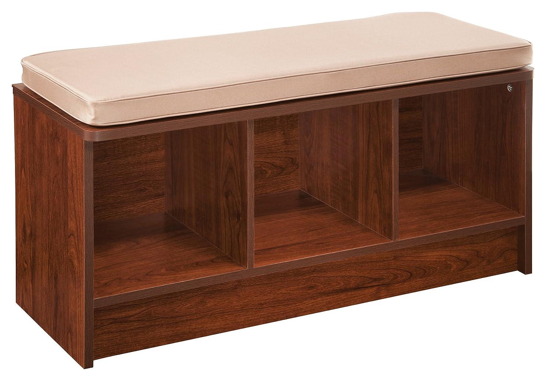 Amazon.com: ClosetMaid 1309 Cubeicals 3 Cube Storage Bench, Dark Cherry:  Home U0026 Kitchen