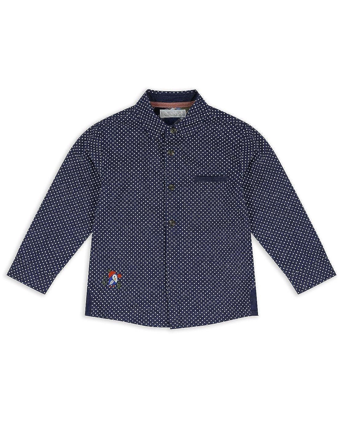 The Essential One Baby Kinder Jungen Hemd/Shirt Langarm - Blau - EOT452
