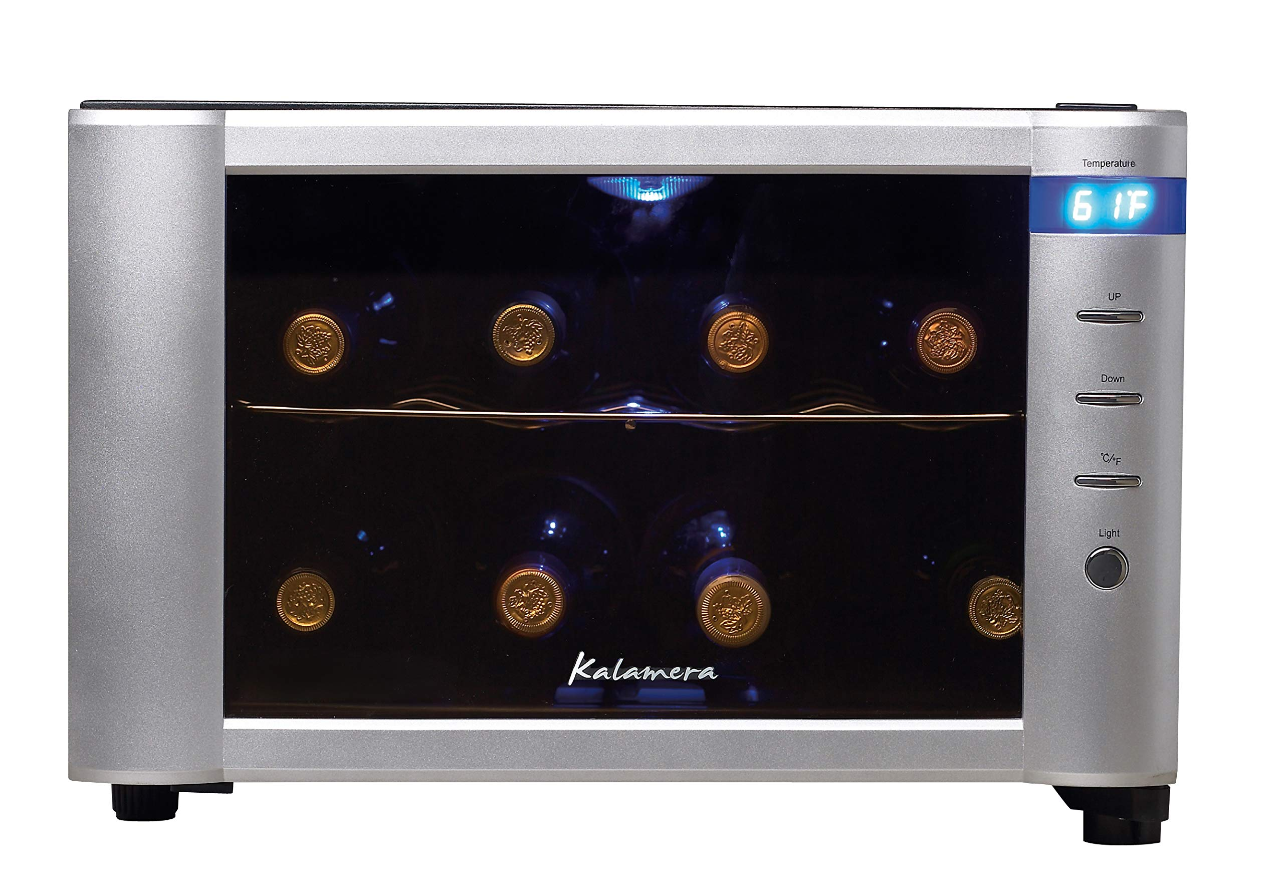 Kalamera 8 bottle table top thermal wine cooler free standing